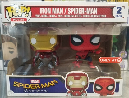 Picture of FUNKO POP MARVEL SPIDER-MAN HOMECOMING TARGET EXCLUSIVE IRON MAN/SPIDEY 2 PACK