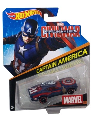 Picture of HOT WHEELS CHARACTER CARS CAPTAIN AMERICA CIVIL WAR