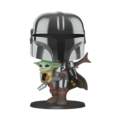 """Picture of POP JUMBO 10"""" THE MANDOLORIAN WITH CHILD"""