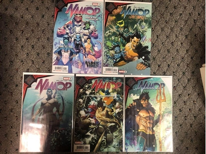 Picture of KING IN BLACK NAMOR #1 2 3 4 5 / 1ST PRINT SET NM
