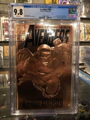Picture of AVENGERS #360 / FOIL EMBOSSED COVER / CGC 9.8 NM/MT