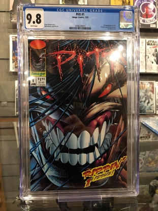 Picture of PITT (1993) #1 / 1ST APPEARANCE / DALE KEOWN ART / CGC 9.8 NM/MT