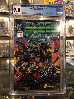 Picture of CYBERFORCE LIMITED SERIES (1992) #1 / 1ST APPEARANCE / CGC 9.8 NM/MT