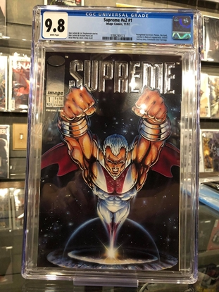 Picture of SUPREME #1 1992 / EMBOSSED SILVER FOIL LOGO / CGC 9.8 NM/MT
