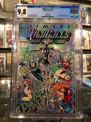 Picture of WILDCATS #2 1992 / PRISM COVER BY JIM LEE / CGC 9.8 NM/MT