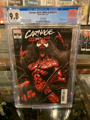 Picture of CARNAGE BLACK WHITE AND BLOOD (2021) #1 CGC 9.8 NM/MT INHYUK LEE VARIANT COVER