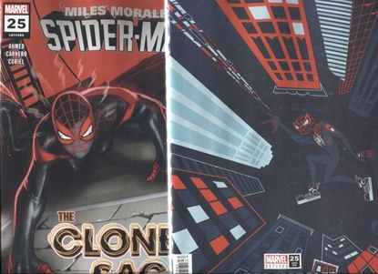 Picture of MILES MORALES SPIDER-MAN #25 / 1ST PRINT + VEREGGE VARIANT COVER SET