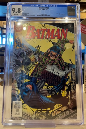 Picture of BATMAN #490 CGC 9.8 NM/MT WHITE PAGES
