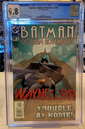 Picture of BATMAN GOTHAM ADVENTURES #59 CGC 9.8 NM/MT / ONLY 1 ON CENSUS