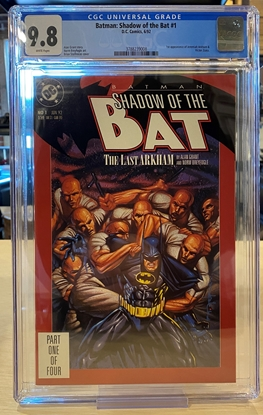 Picture of BATMAN SHADOW OF THE BAT #1 / CGC 9.8 NM/MT WHITE PAGES