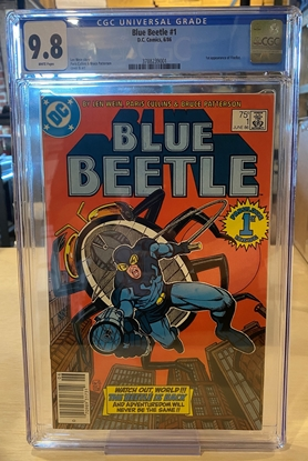 Picture of BLUE BEETLE 1986 #1 / CGC 9.8 NM/MT / WHITE PAGES NEWSSTAND