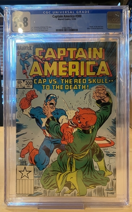 Picture of CAPTAIN AMERICA #300 / CGC 9.8 NM/MT / WHITE PAGES / DEATH OF READ SKULL