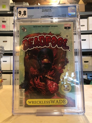 Picture of DEADPOOL (2018) #5 CGC 9.8 NM/MT / GARBAGE PAIL KIDS HOMAGE COVER