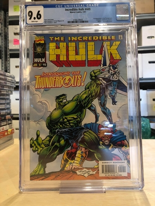 Picture of INCREDIBLE HULK #449 CGC 9.8 NM/MT / 1ST APP OF THE THUNDERBOLTS