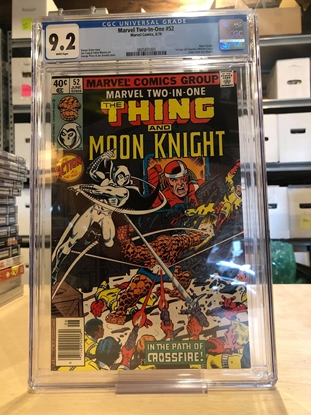 Picture of MARVEL TWO IN ONE #52 CGC 9.2 NM- / MOON KNIGHT APP. WHITE PAGES