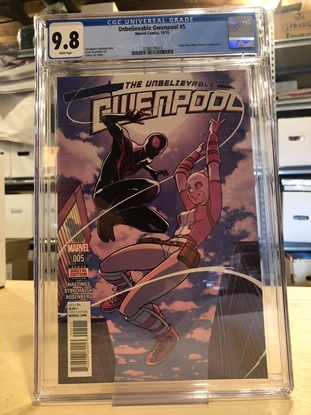 Picture of UNBELIEVABLE GWENPOOL #5 CGC 9.8 NM/MT / MILES MORALES COVER