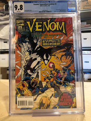 Picture of VENOM SEPARATION ANXIETY #2 CGC 9.8 NM/MT / SCREAM APP WHITE PAGES