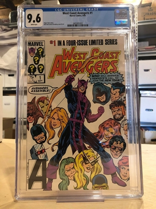 Picture of WEST COAST AVENGERS (1984) #1 CGC 9.6 NM+ / 1ST APP. WHITE PAGES