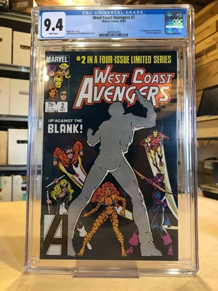 Picture of WEST COAST AVENGERS (1984) #2 CGC 9.4 NM / 1ST APP. THE BLANK WP