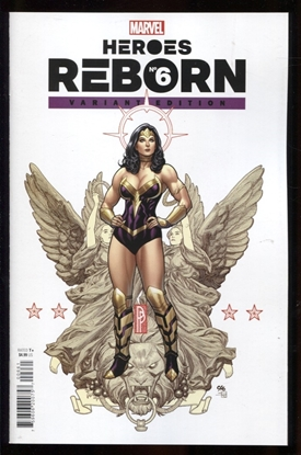 Picture of HEROES REBORN #6 (OF 7) FRANK CHO VARIANT COVER 1:25