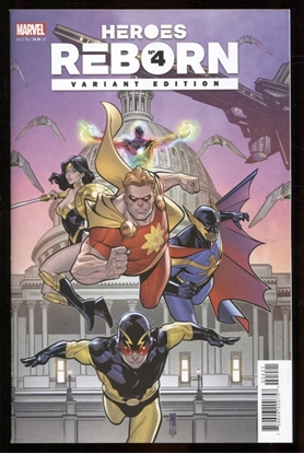 Picture of HEROES REBORN #4 (OF 7) MEDINA SQUADRON SUPREME VARIANT 1:25