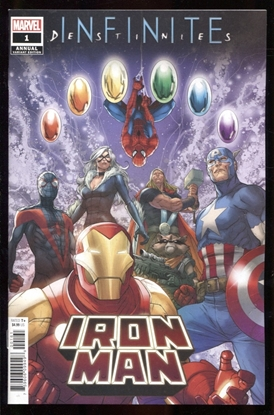 Picture of IRON MAN ANNUAL #1 1:25 ROBERSON PROMO VARIANT COVER