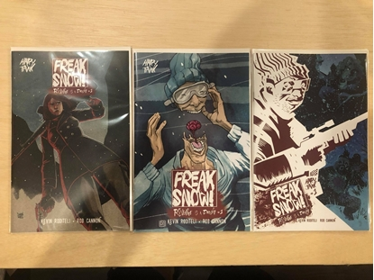 Picture of FREAK SNOW #1 COVER A B C / HAPPY TANK NM SET
