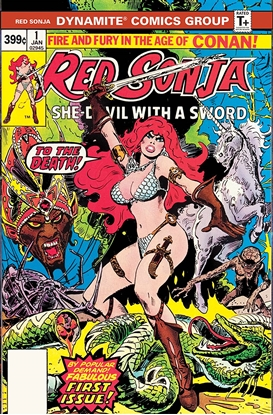 Picture of RED SONJA #1 1977 DYNAMITE EDITION FACSIMILE