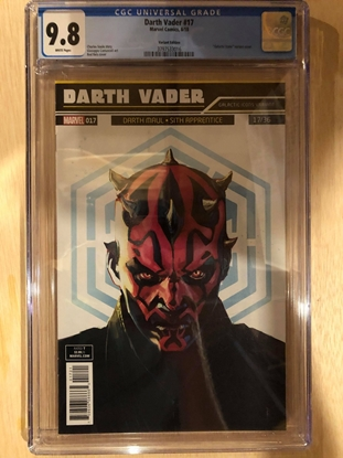 Picture of DARTH VADER #17/ ICONS VARIANT DARTH MAUL COVER / CGC 9.8 NM/MT