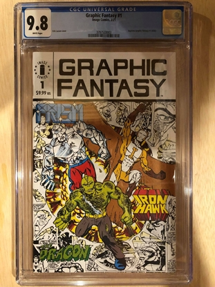 Picture of GRAPHIC FANTASY #1 / REPS 1ST APP OF SAVAGE DRAGON / CGC 9.8 NM/MT