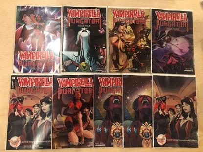 Picture of VAMPIRELLA VS PURGATORI #4 / 9 COVER SET A B C D E WITH VIRGIN NM