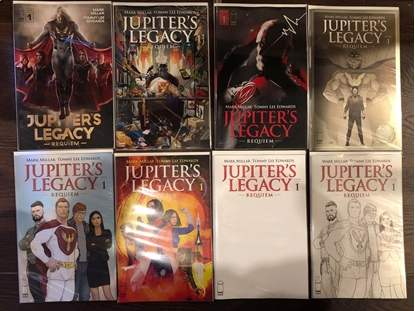 Picture of JUPITERS LEGACY REQUIEM #1 / A B C D E F G H 1:10 8-COVER SET TV SHOW NM