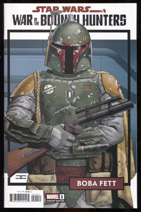 Picture of STAR WARS WAR BOUNTY HUNTERS #1 (OF 5) TRADING CARD VARIANT