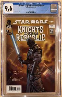Picture of STAR WARS KNIGHTS OF THE OLD REPUBLIC #9 CGC 9.6 NM+ 1ST DARTH REVAN