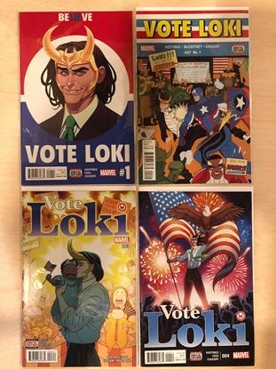 Picture of VOTE LOKI #1 2 3 4 1ST PRINT SET NM