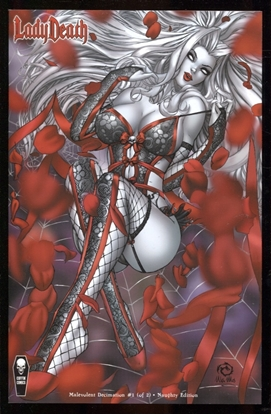 Picture of LADY DEATH MALEVOLENT DECIMATION #1 (OF 2) NAUGHTY CVR (MR)