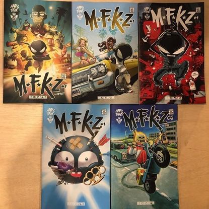 Picture of MFKZ #1 COVER A B C F 1:5 / 5 COVER SET HAPPY TANK NM