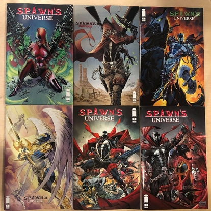 Picture of SPAWN'S UNIVERSE #1 COVER A B C D E F / 6-COVER SET NM