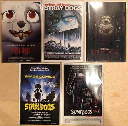 Picture of STRAY DOGS #1 2 3 4 5 / 1ST PRINT COVER B HORROR MOVIE VARIANT SET / FLEECS IMAGE NM