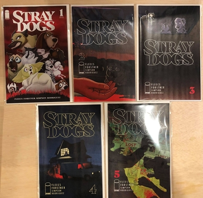 Picture of STRAY DOGS #1 2 3 4 5 / 1ST + 2ND PRINT SET COVER A / FLEECS NM