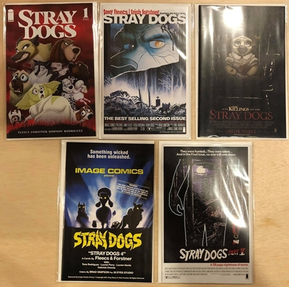 Picture of STRAY DOGS #1 2 3 4 5 / 1ST + 2ND PRINT SET COVER B HORROR MOVIE VARIANT NM
