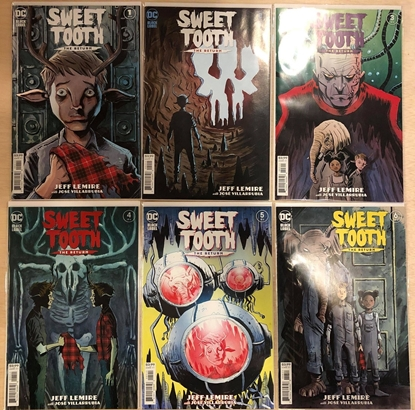 Picture of SWEET TOOTH THE RETURN #1 2 3 4 5 6 / 1ST PRINT SET / JEFF LEMIRE NETFLIX TV SHOW NM