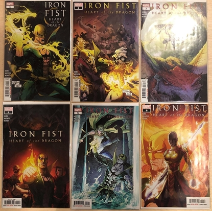 Picture of IRON FIST HEART OF DRAGON #1 2 3 4 5 6 / 1ST PRINT SET NM HAMA