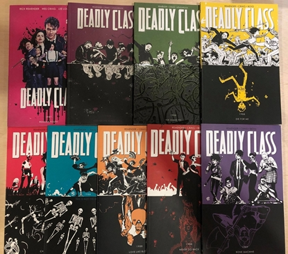 Picture of DEADLY CLASS VOLUME 1 2 3 4 5 6 7 8 9 TPB SET / SYFY TV SHOW REPS #1-44