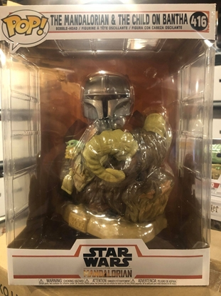 Picture of FUNKO POP STAR WARS THE MANDALORIAN & THE CHILD ON BANTHA #416