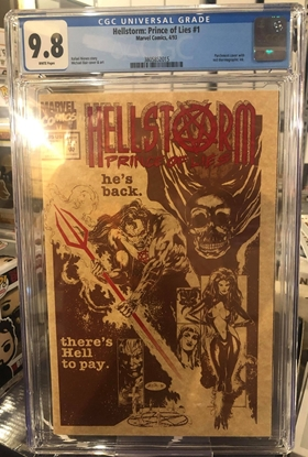 Picture of HELLSTORM PRINCE OF LIES (1993) #1 / CGC 9.8 NM/MT DIRECT EDITION