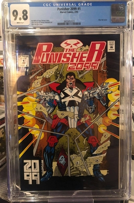 Picture of PUNISHER 2099 (1993) #1 / CGC 9.8 NM/MT BLUE FOIL COVER