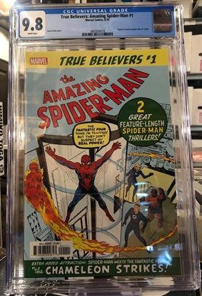 Picture of TRUE BELIEVERS AMAZING SPIDER-MAN #1 / REPS 1963 / CGC 9.8 NM/MT