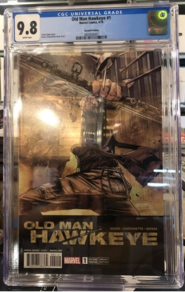 Picture of ODL MAN HAWKEYE #1 2ND PRINT CHECCHETTO VARIANT CGC 9.8 NM/MT