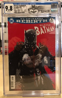 Picture of ALL STAR BATMAN #1 / COVER C JOCK VARIANT / CGC 9.8 NM/MT SPECIAL LABEL